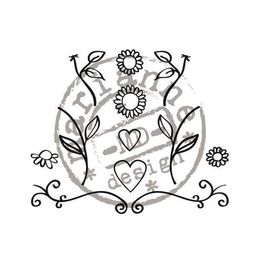 Marianne Design - Clear Stamps - Flowers & Hearts FG2462