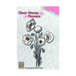 Nellie Snellen Flowers Clear Stamps - Poppies FLO014