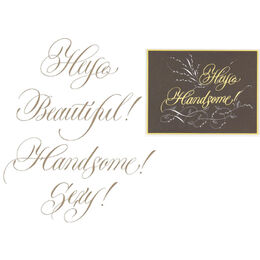 Spellbinders Glimmer Hot Foil Plate - Hey Beautiful GLP109