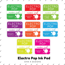 Gina K Designs ElectroPop Ink Pad (full size) - Choose from 8 colours