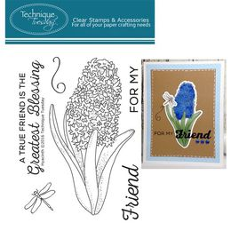 "Technique Tuesday - Clear Stamps 3""X4"" - Hyacinth GSHYA"