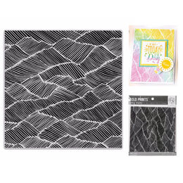 "Hero Arts Cling Stamps 6""X6"" - Abstract Fields Bold Prints HA-CG804"