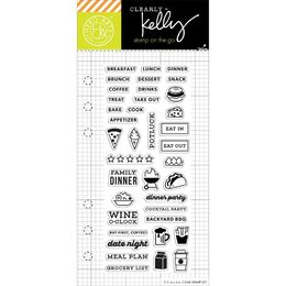 "Hero Arts - Kelly Purkey Clear Stamps 2.5""X6"" - Food Planner HA-CL914"