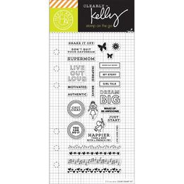 "Hero Arts - Kelly Purkey Clear Stamps 2.5""X6"" - Girl Talk Planner HA-CL934"