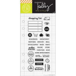 "Hero Arts - Kelly Purkey Clear Stamps 2.5""X6"" - Shopping Planner HA-CL936"