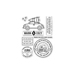 "Hero Arts - Kelly Purkey Clear Stamps 4""X6"" - Warm & Cozy HA-CL996"