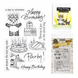 "Hero Arts From The Vault Clear Stamp 4""X6"" - Birthday HA-CM360"