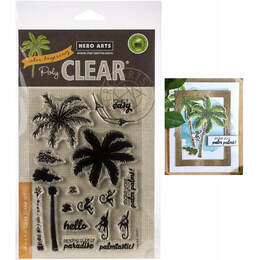 "Hero Arts Color Layering Clear Stamps 4""X6"" - Palm Tree HA-CM371"