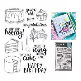 "Hero Arts Clear Stamps 4""X6"" - Time For Cake HA-CM440"