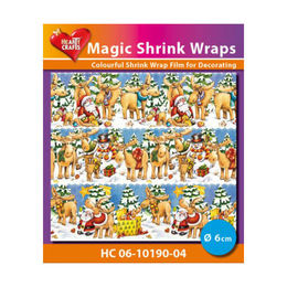 Magic Shrink Wraps - Xmas Mooses (6 cm) HC06-10190-04