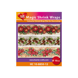Magic Shrink Wraps - X-mas Flowers (10cm) HC10-8850-12