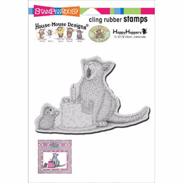 Stampendous House Mouse Cling Stamp - Birthday Kitty
