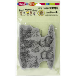 Stampendous House Mouse Cling Stamp - Cookie Ornaments