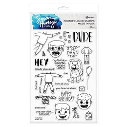 "Simon Hurley Create Cling Stamps 6""X9"" - Dudes Too! HUR67238"