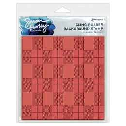 "Simon Hurley Create Stamps 6""X9"" - Classic Flannel HUR67474 - Background Ruber Stamps"