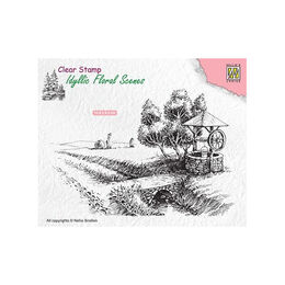 Nellie Snellen Clear Stamps Idyllic Floral Scene - Well (138x95mm) IFS021