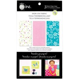 "Fabric Editions - Iron On Fabric Sheets 8""X9"" 3/Pkg - Sweet IOSHEET1"