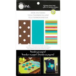 "Fabric Editions - Iron On Fabric Sheets 8""X9"" 3/Pkg - Modern IOSHEET4"