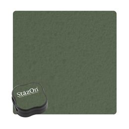 Tsukineko Staz On Midi Ink Pads - Olive Green J7049-51