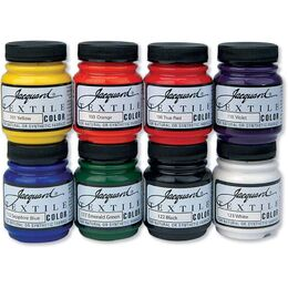 Jacquard Textile Color Fabric Paint 2.25oz 8/Pkg - Primary & Secondary Colors JAC1000
