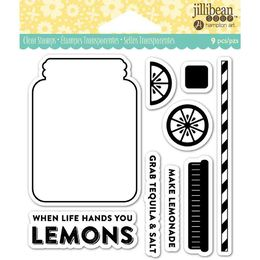 "Jillibean Soup Clear Stamps 4""X4"" - Lemonade JB0835"