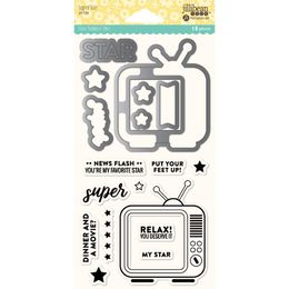Jillibean Soup Shaker Clear Stamps & Die Set - Super Star JBSTAMP1326