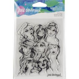 Jane Davenport Artomology Clear Stamps - Girl Group