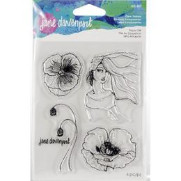 Jane Davenport Artomology Clear Stamps - Poppy Girl