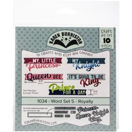 Karen Burniston Dies - Word Set 5 - Royalty KBR1034