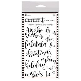"Ranger Letter It Clear Stamp Set 4""X6"" - Christmas LEC63087"