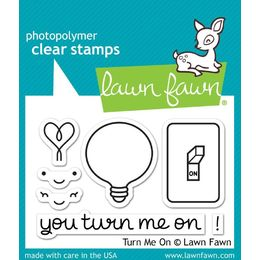 Lawn Fawn - Clear Stamps - Turn Me On LF1020