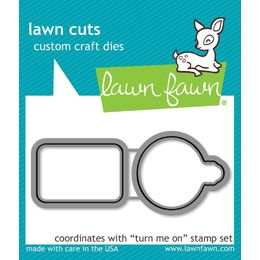 Lawn Fawn - Lawn Cuts Dies - Turn Me On  LF1021