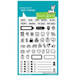 Lawn Fawn - Clear Stamps - Plan On It LF1129