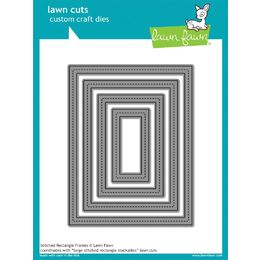 Lawn Fawn - Lawn Cuts Dies - Stitched Rectangle Frames LF1142