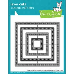 Lawn Fawn - Lawn Cuts Dies - Small Cross Stitched Square Stackables LF1183