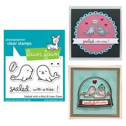 Lawn Fawn - Clear Stamps - Sealed With A Kiss LF1290