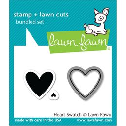 Lawn Fawn - Clear Stamps - Heart Swatch LF1314
