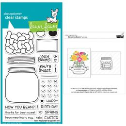 Lawn Fawn - Clear Stamps - How You Bean? LF1325