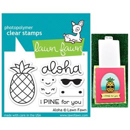 Lawn Fawn - Clear Stamps - Aloha LF1417