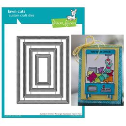 Lawn Fawn - Lawn Cuts Dies - Outside In Stitched Rectangle Stackables LF1442