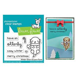 Lawn Fawn - Clear Stamps - Winter Otter LF1474