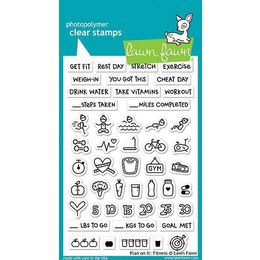 Lawn Fawn - Clear Stamps - Plan On It: Fitness LF1483