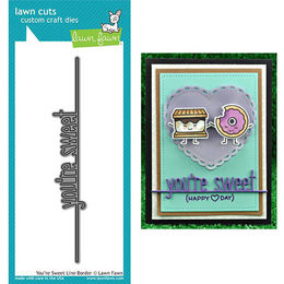 Lawn Fawn - Lawn Cuts Dies - You're Sweet Line Border LF1560