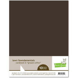 Lawn Fawn - Cardstock - Ground Coffee LF1572