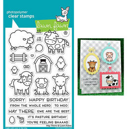 Lawn Fawn - Clear Stamps - Hay There LF1595