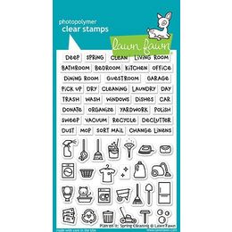 Lawn Fawn - Clear Stamps - Plan On It: Spring Cleaning LF1607