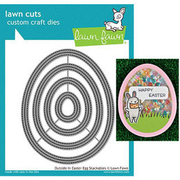 Lawn Fawn - Lawn Cuts Dies - Outside In Easter Egg Stackables LF1627