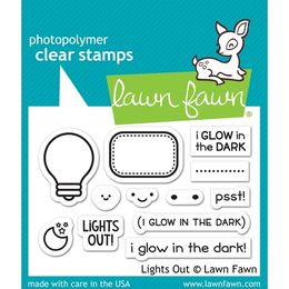 Lawn Fawn - Clear Stamps - Lights Out LF1631
