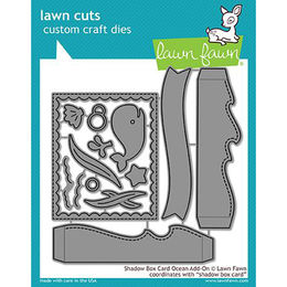 Lawn Fawn - Lawn Cuts Dies - Shadow Box Card Ocean Add-On LF1705