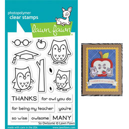 Lawn Fawn - Clear Stamps - So Owlsome LF1757